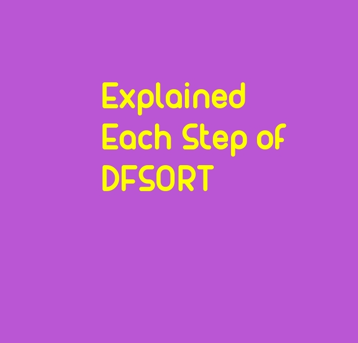 DFSORT Step By Step Explanation