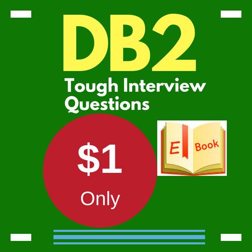 DB2 tough interview questions e-book