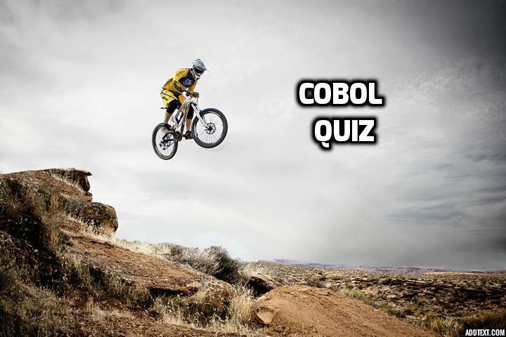 COBOL Quiz