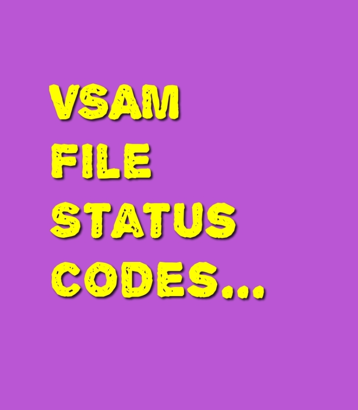 vsam file status codes