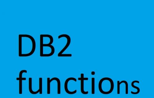 DB2 functions