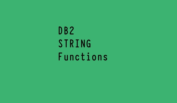 DB2 String Functions