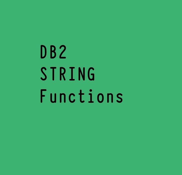 DB2 String Functions