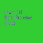 Stored procedure in CICS