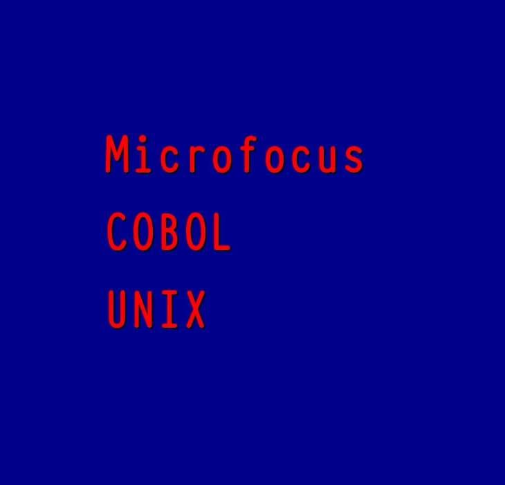 Micro Focus with UNIX