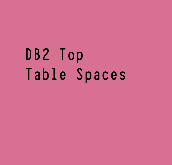 DB2 Top Table Spaces