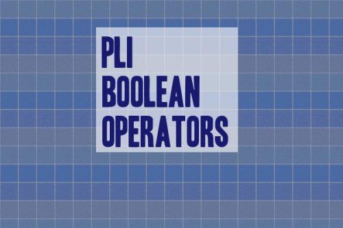 PLI Boolean Operators