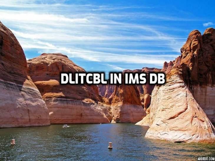 DLITCBL in IMS DB