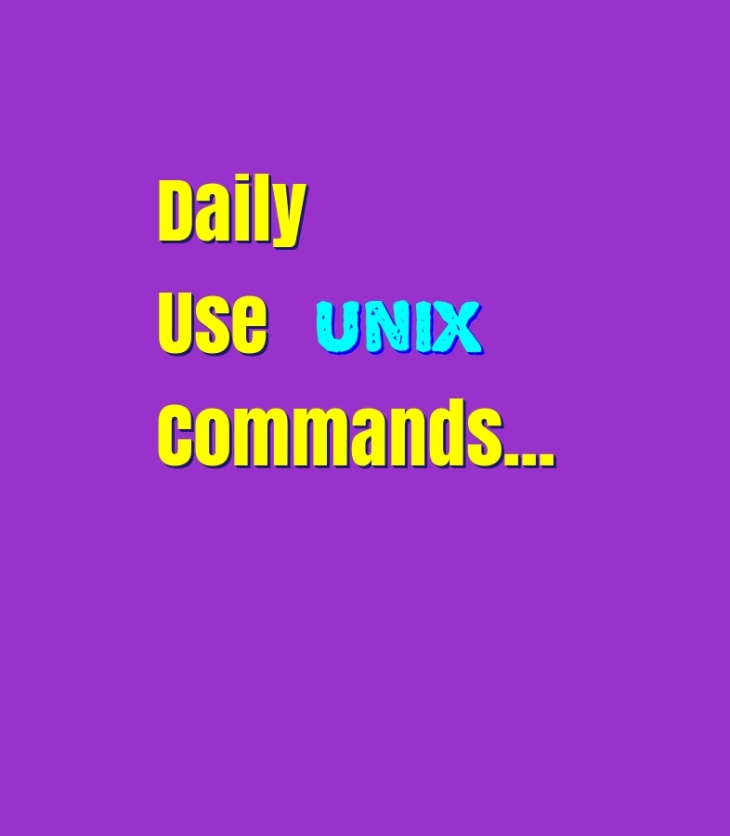 daily use unix commands