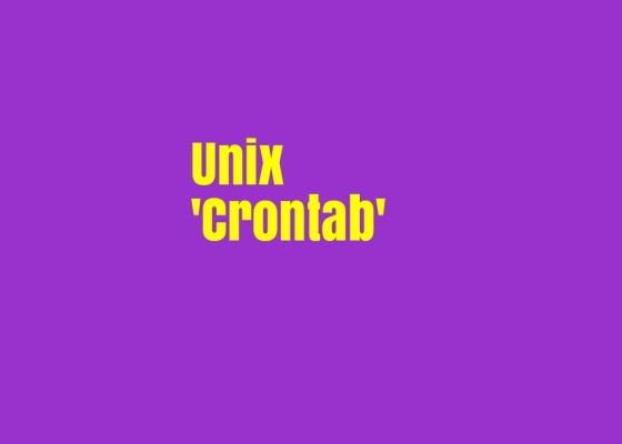 Unix Crontab How to Schedule Jobs