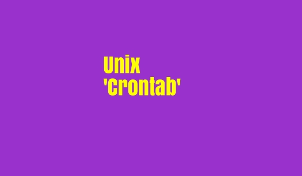 Unix Crontab How to Schedule Jobs