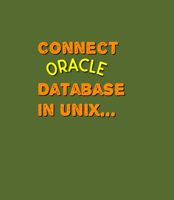 Unix to ORACLE establish a connection