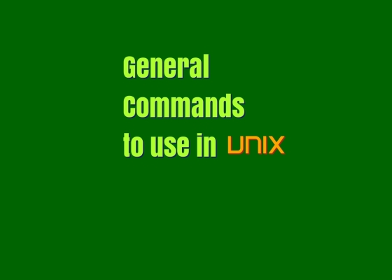 General Unix Commands