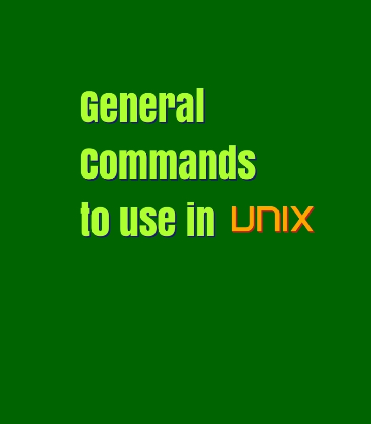 General Unix Commands
