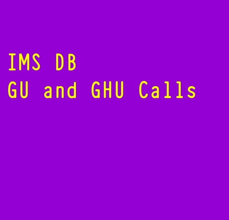 IMS DB GU and GHU calls