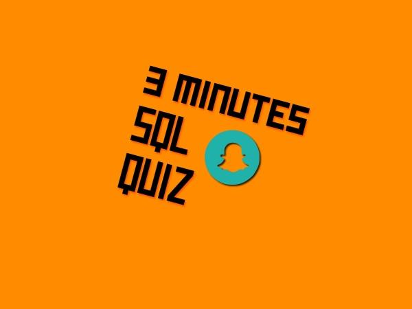 3 minutes SQL quiz