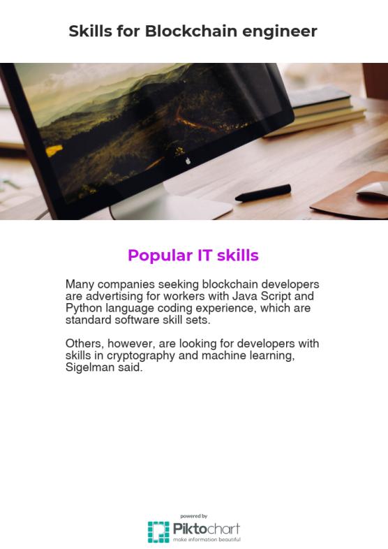 Skills for blockchain