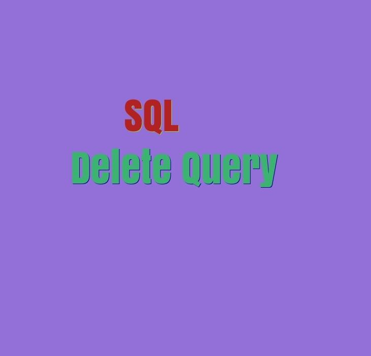 Delete SQL Query