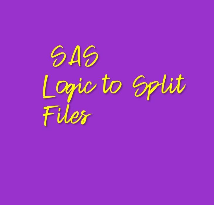 SAS Logic to Split Files