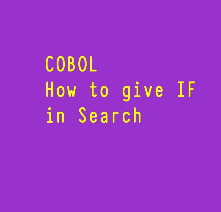 COBOL Search