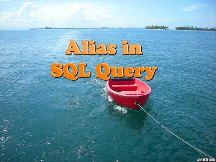Alias in SQL query