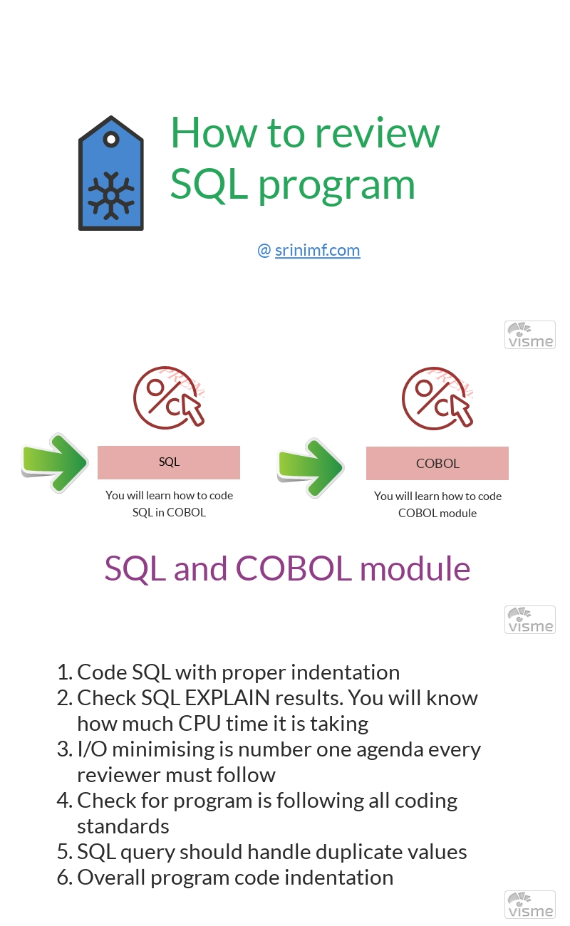 How to review SQL program