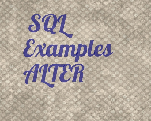 SQL Examples