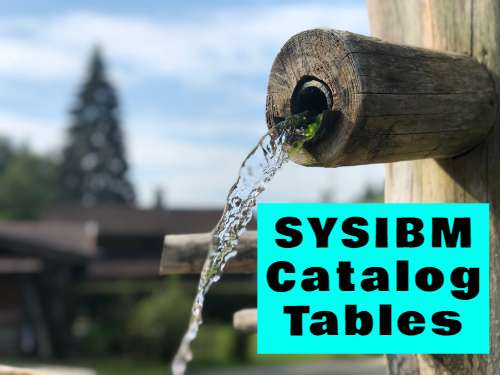 Catalog tables DB2 Zos