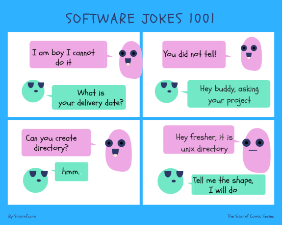 Software jokes 1001 on delivery date.