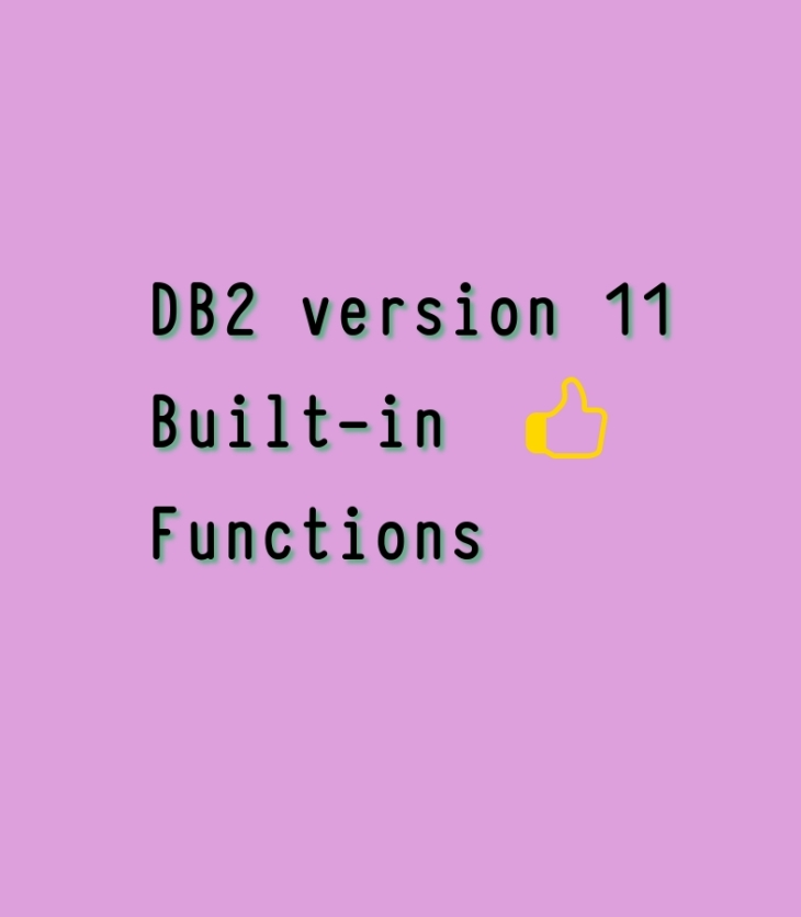 top built-in functions db2 v11