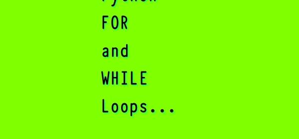 Python Loop Control Types