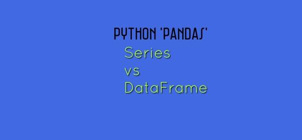 Pandas in Python