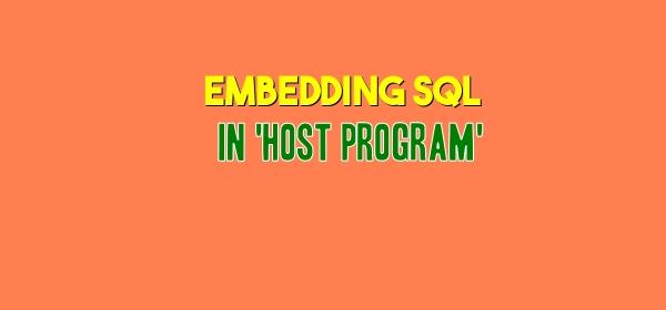 Embedding SQL in Host Program