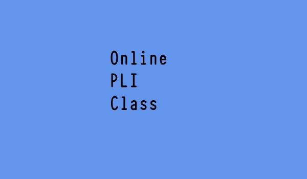Online Class PLI