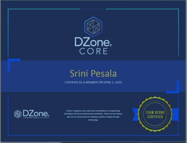 Certified Dzone member