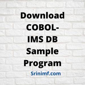 Sample IMS DB and COBOL Program