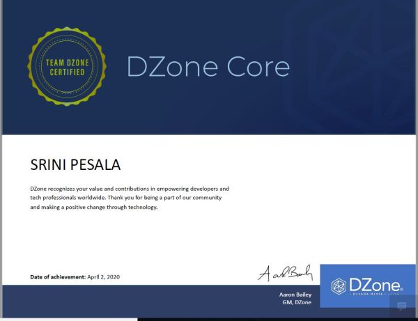 Recognition from Dzone