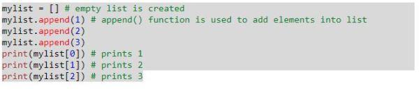 Python Code to Create List